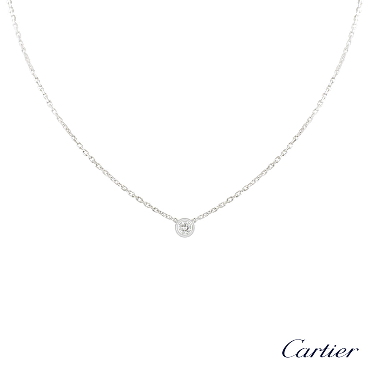 Cartier White Gold Diamants Legers Necklace B7224515